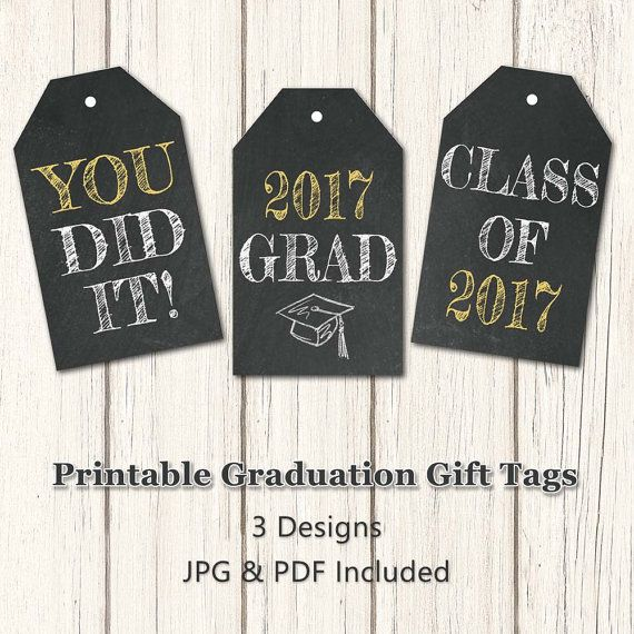 Printable graduation gift tags class of 2017 by yourprintableshop printable graduation gift tags class of 2017 by yourprintableshop negle Images