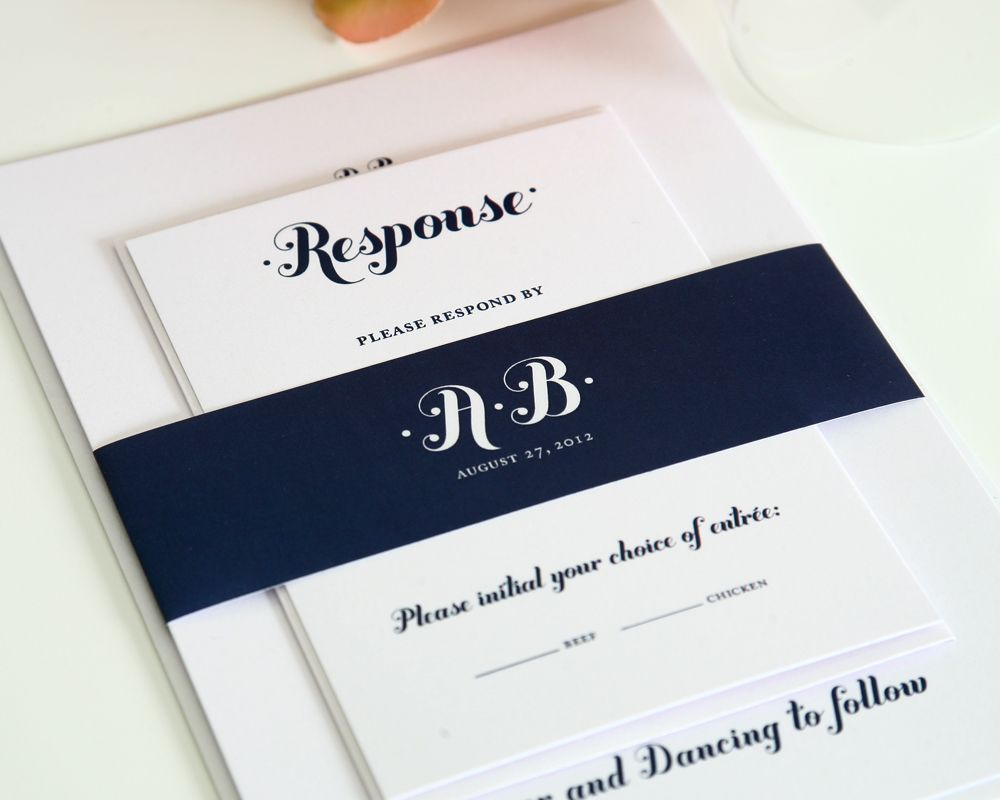Establish The Tone Of Your Wedding From Start With UConn Blue Invitations