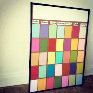DIY Paint Swatch Calendar- incredibly easy to make and dry ...