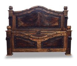 Alamo Complete 6 Piece Rustic Bedroom Set With Cowhide Accents In 2020 Rustic Bedroom Sets Rustic Bedroom Bedroom Set