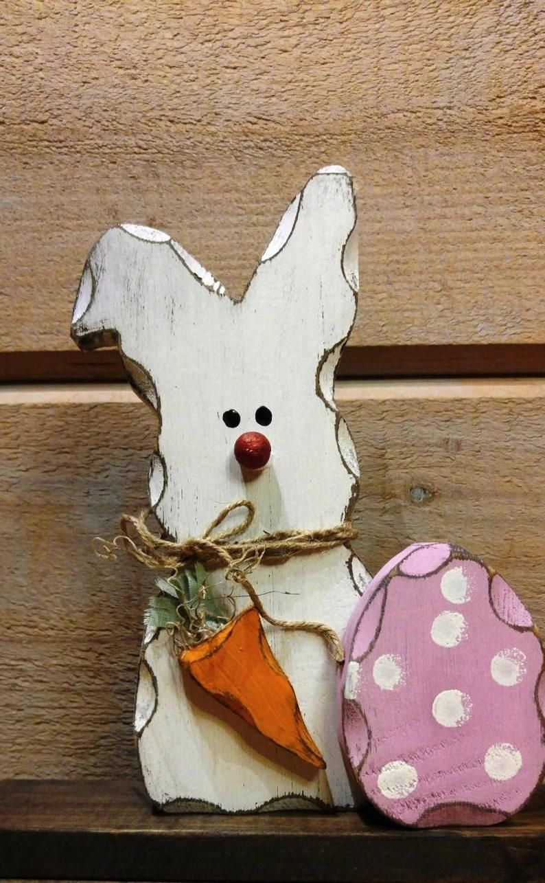 Easter Bunny Decoration Easter Bunny Easter Decorations Wooden Rabbit Spring Bunny Spring Decor Spring Decorations Shelf Decor In 2020 Easter Bunny Decorations Wooden Easter Decorations Wooden Rabbit