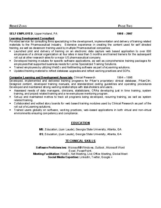 renee zung career coach resume page 2 career coach linkedin