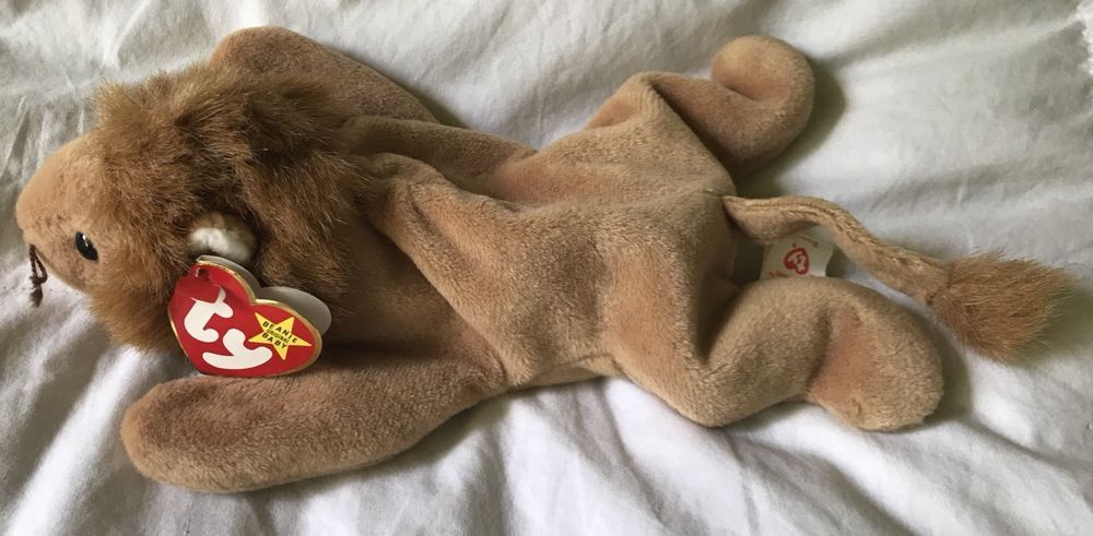 f107f604e7d ROARY The Lion Ty Beanie Baby - MINT - RETIRED-Several Tag ERRORS ...
