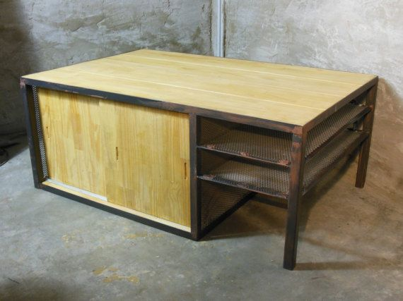 Table basse mini-bar Cave portes coulissantes от Meublesetdeco