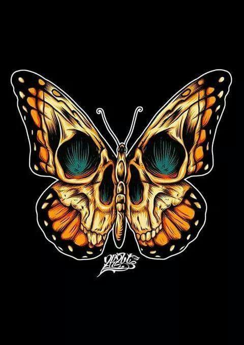 Butterfly Skull Skull Butterfly Tattoo Body Art Tattoos Skull Art