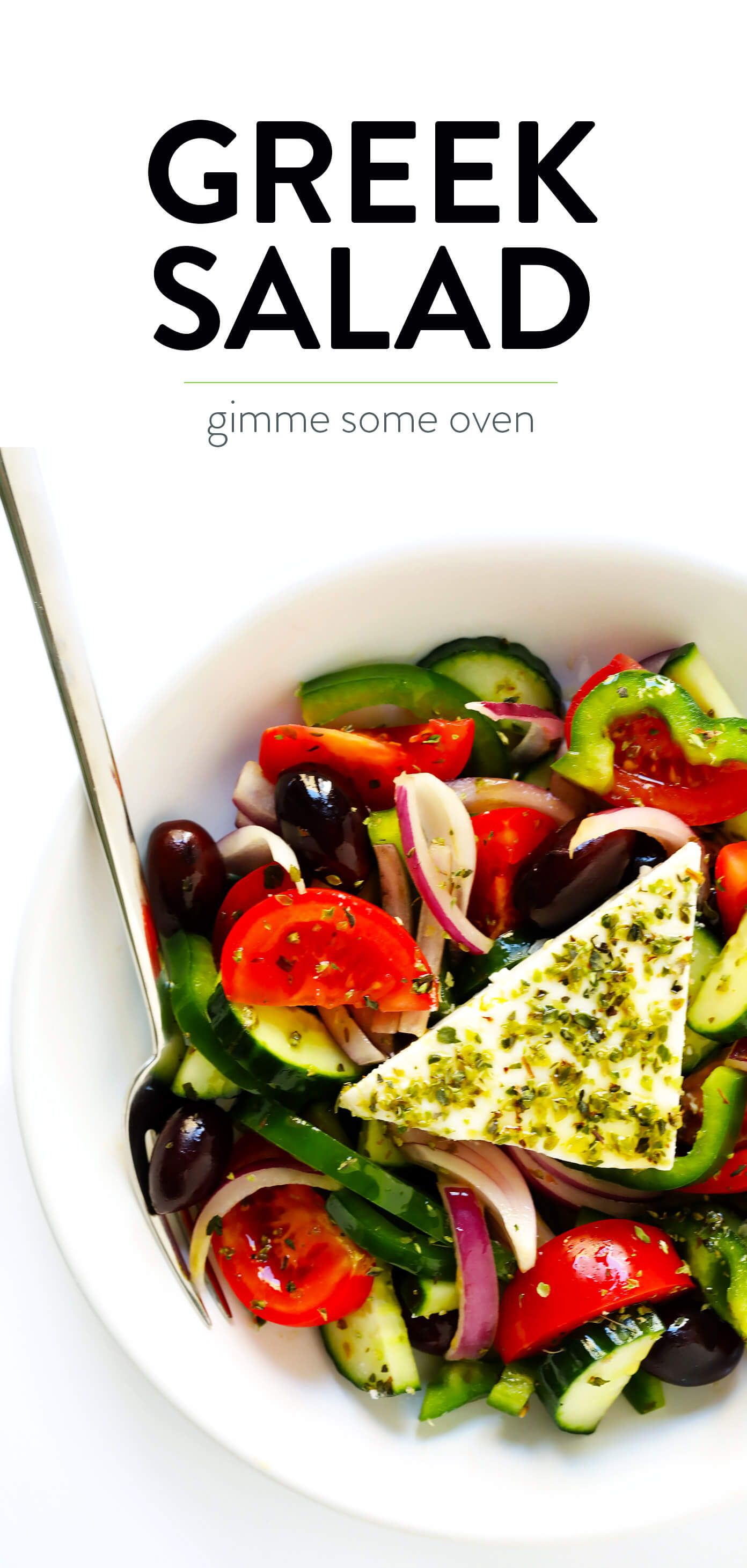 Authentic Greek Salad Gimme Some Oven Greek Salad Recipe Authentic Greek Salad Recipes Greek Salad