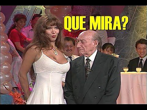 Juan Verdaguer con la vedette Alejandra Mora(Alejandra Domínguez) contan...