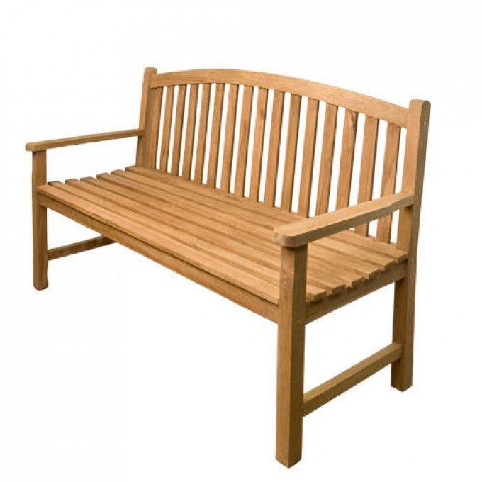 Horizon 5 Ft Teak Bench Outdoor Furniture Outdoor Teak Furniture Teak Bench Teak Bench Outdoor