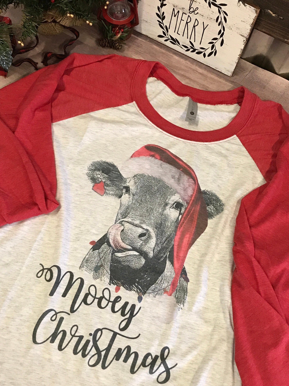 c1926ae9 Mooey Christmas heifer shirt | Personalized gifts | Christmas shirts ...