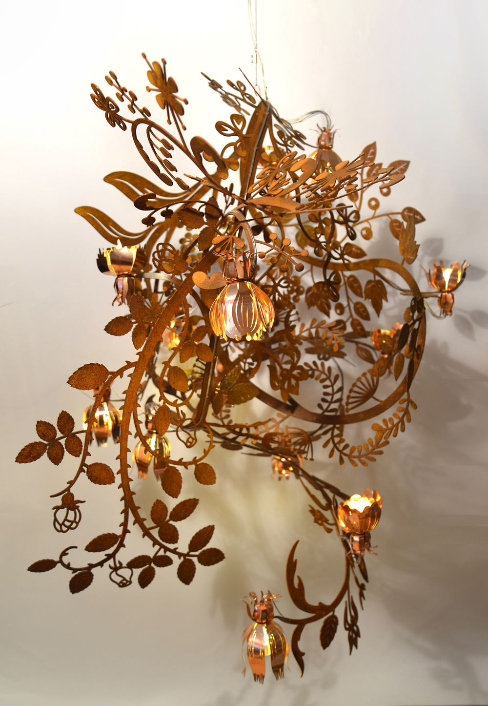 tord boontje lighting.  Boontje Botanical  Chandelier Rust Steel And Copper Lighting Studio Tord  Boontje And B