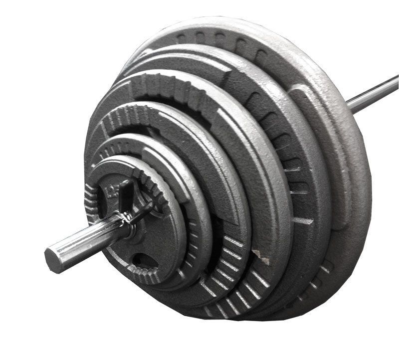 Details about new 100kg barbell weight plate set