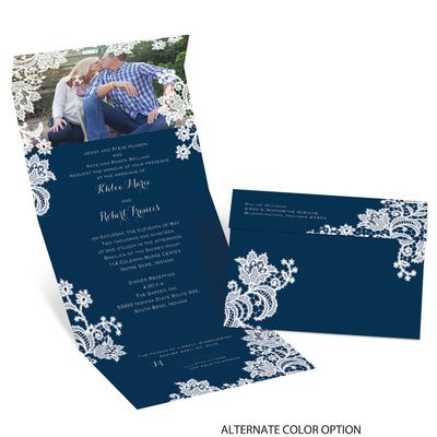 Lacy Layer Seal And Send Wedding Invitations At Ann S Bridal Bargains Ann S Bridal Bargains Affordable Wedding Invitations Wedding Invitations