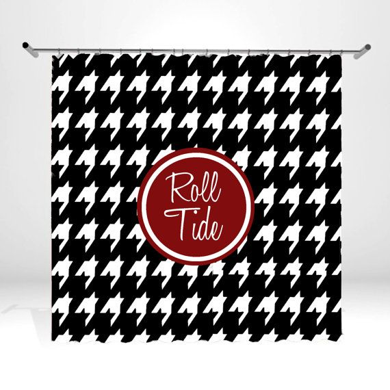 Personalized Monogrammed Shower Curtain Houndstooth