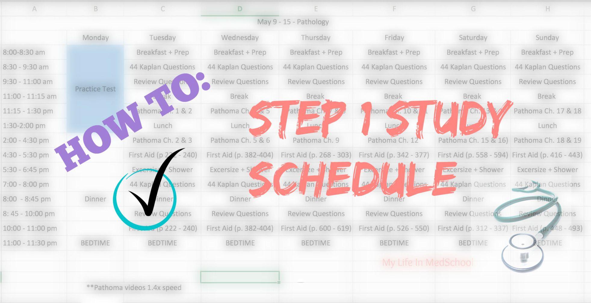Scheduling 2 Usmle Step