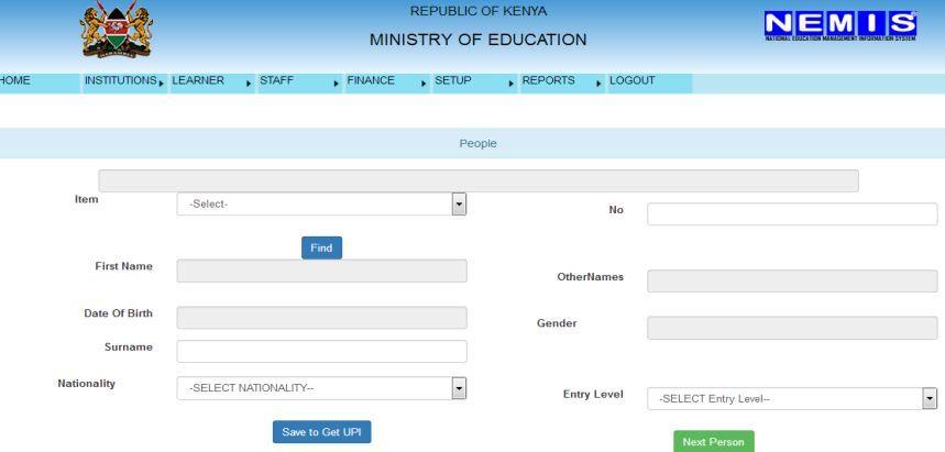 Official Nemis Portal Registration Process Manual Institution