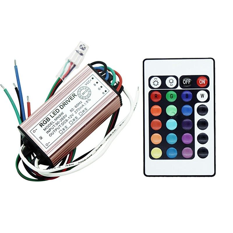 10w Rgb Led Driver Output 6 12v 270ma Input Ac 90 265v Ip67 Waterproof Lighting Transformers Led Drivers Rgb Led Led