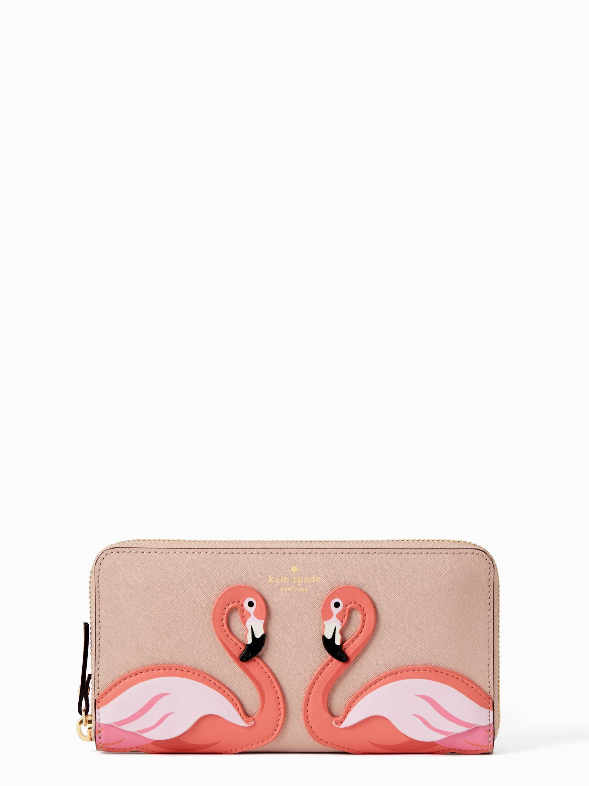 By The Pool Flamingo Kate Spade Kate Spade By The Pool Flamingo Lacey Multi Products Wallet