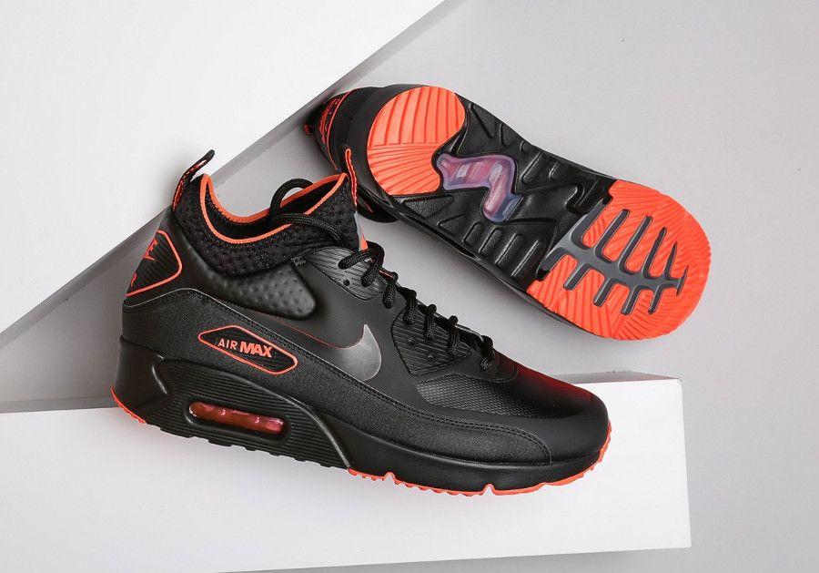 Nike AA4423 001 | Men's Nike Air Max 90 Ultra Mid Winter Black