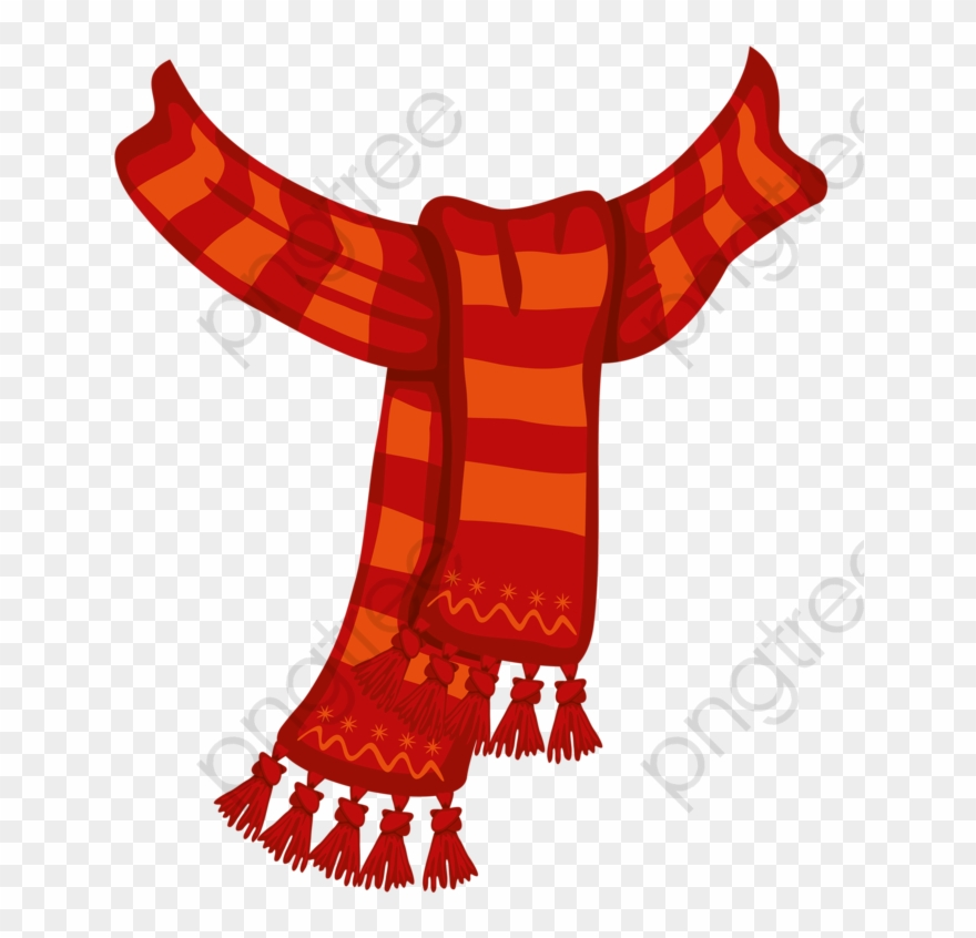 Red Scarf Scarf Red Hand Painted Png Transparent Scarf Clipart Png Red Scarves Clip Art Hand Painted
