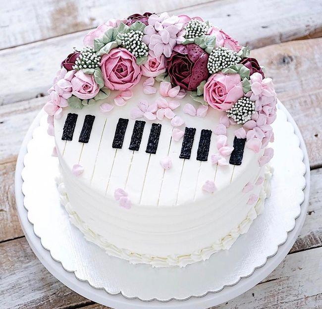 Невероятно красивые весенние торты-цветы (35 фото ...