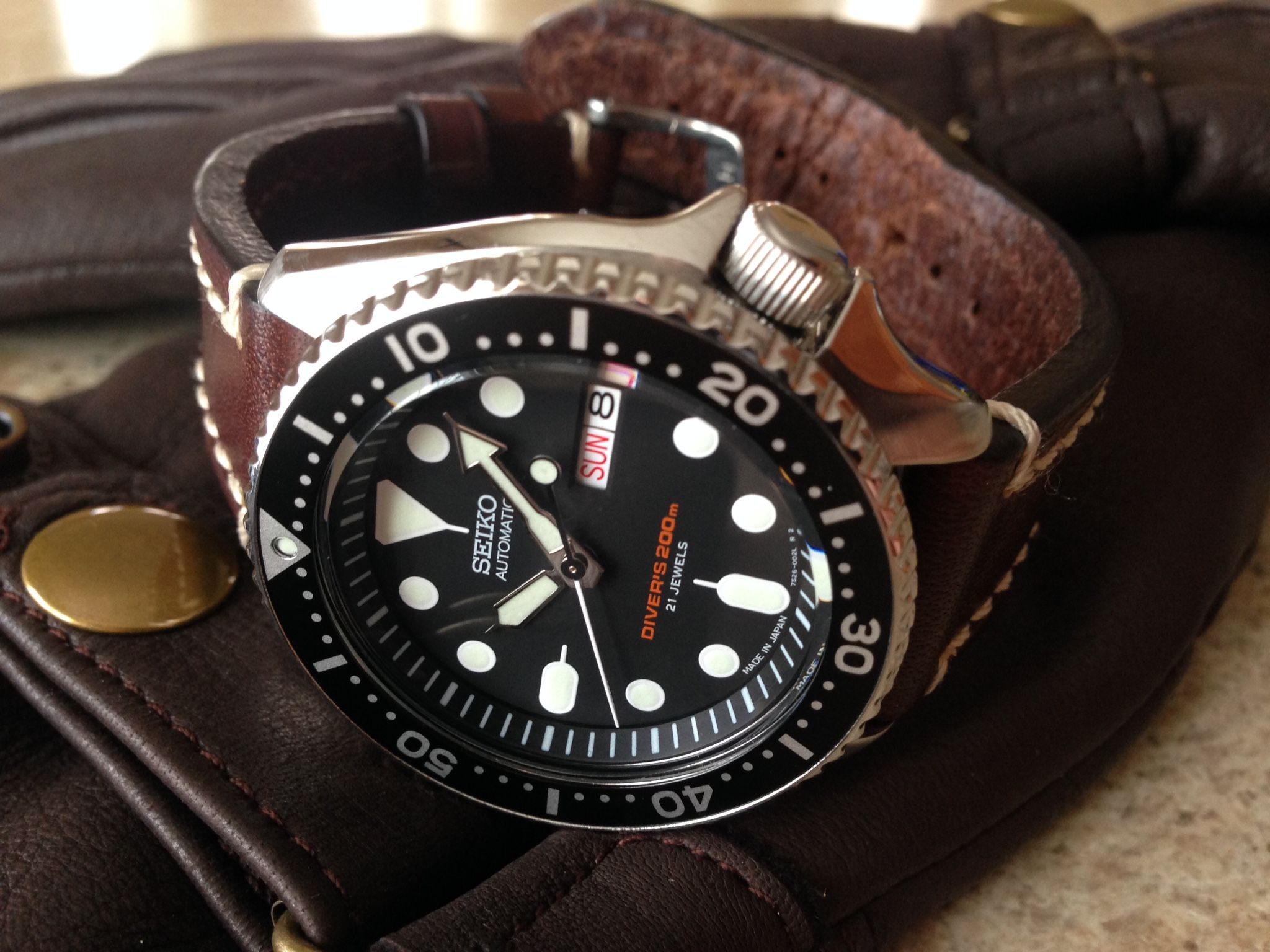 Best leather strap watches men images best ideas about watches for - My Own Seiko Skx 007 With Hirsch Strap
