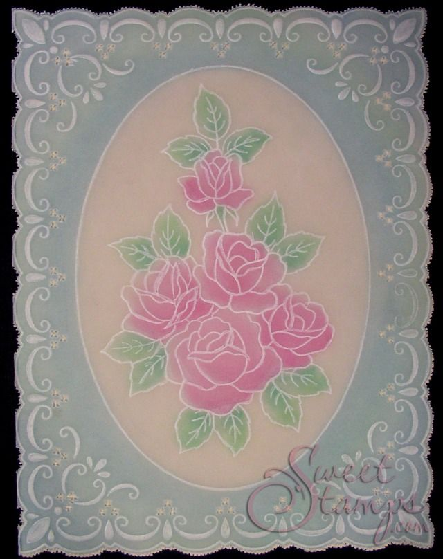 Framed Lovely Roses | Stacey Richardson / SweetStamps.com LLC