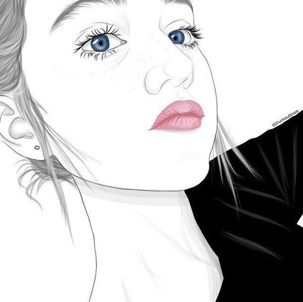 Art Noir Et Blanc Griffonnages Dessine Dessin Fille Grunge