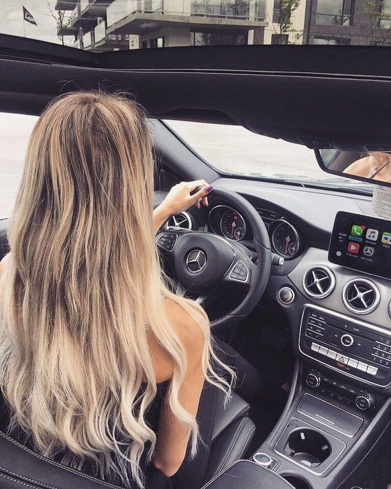#mercedes#mercedesbenz#girl#car#blond#blondie#long#hairs