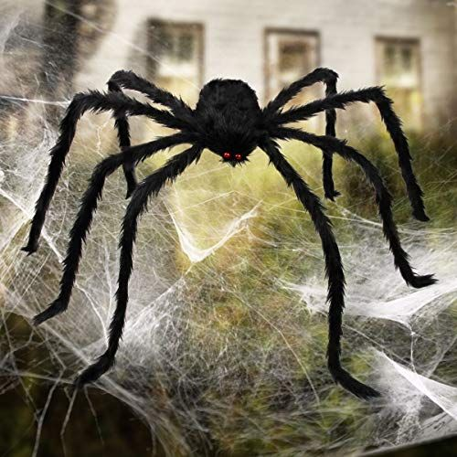 Review Aiduy Outdoor Halloween Decorations Scary Giant Spider Fake - giant spider halloween decoration