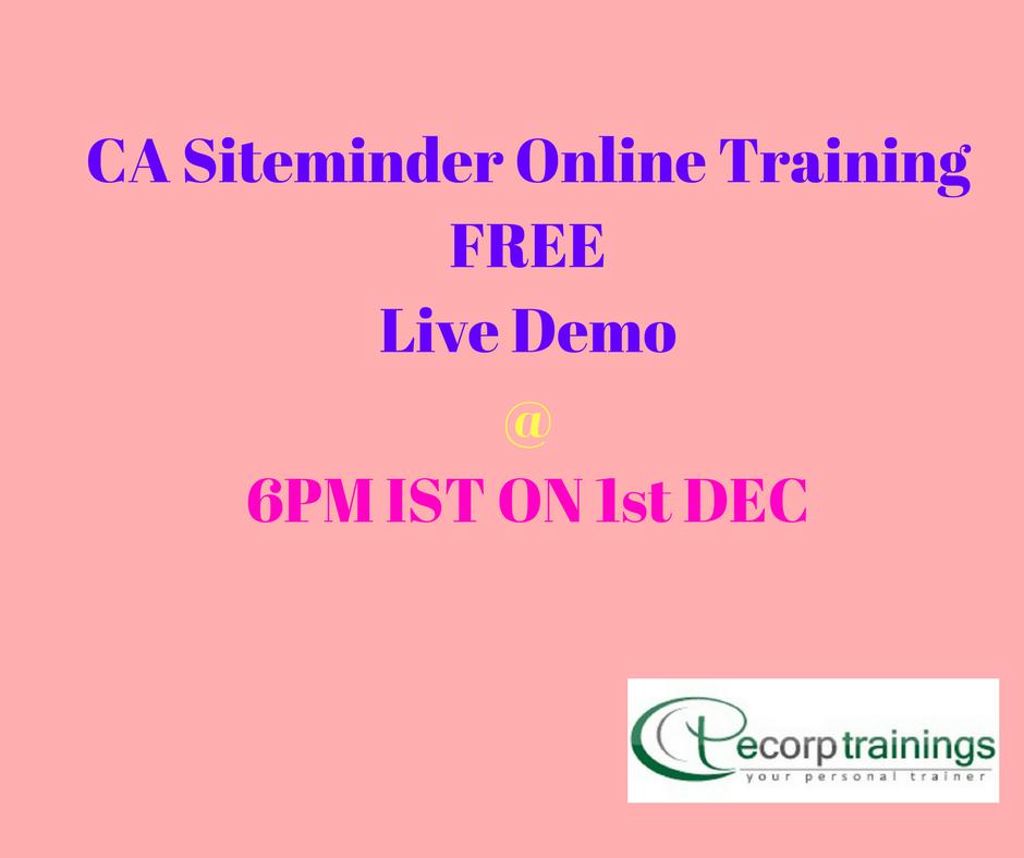 Best Institute For Learn Siteminder Online Training In Hyderabad