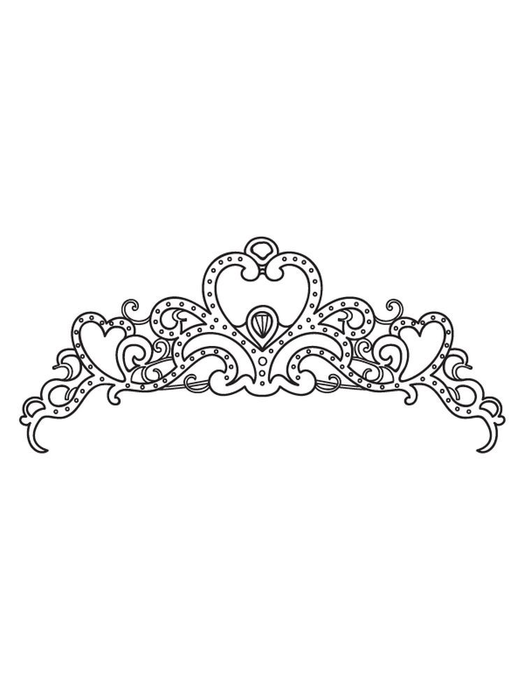 Printable Princess Crown Coloring Pages For A King The Crown Is A Symbol Of His Power By Wearing A Crown Princess Printables Princess Crown Coloring Pages