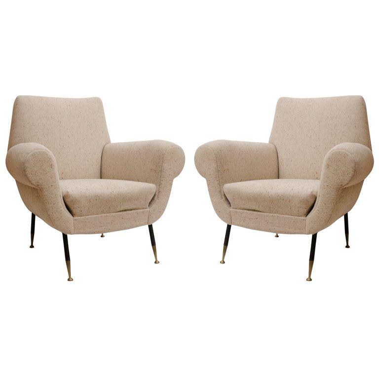 Pair of  1950's Italian Armchairs