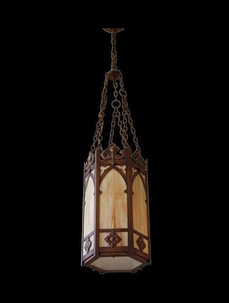 Vintage Gothic Church Pendant Light Fixture Antique