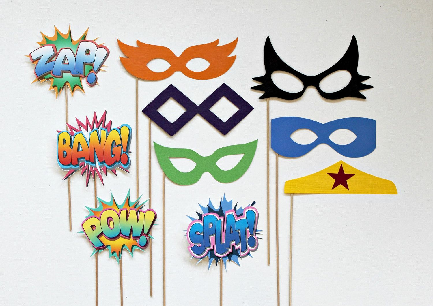 Vintage Super Hero Photo Booth Props Glasses by LittleRetreats.