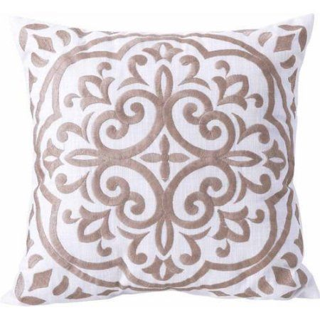 Walmart Pillow Inserts Better Homes And Garden Block Embroidered Medallion Decorative