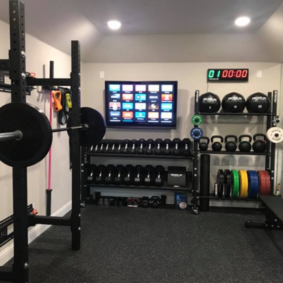 captivating basement renovation on a budget  gym room at