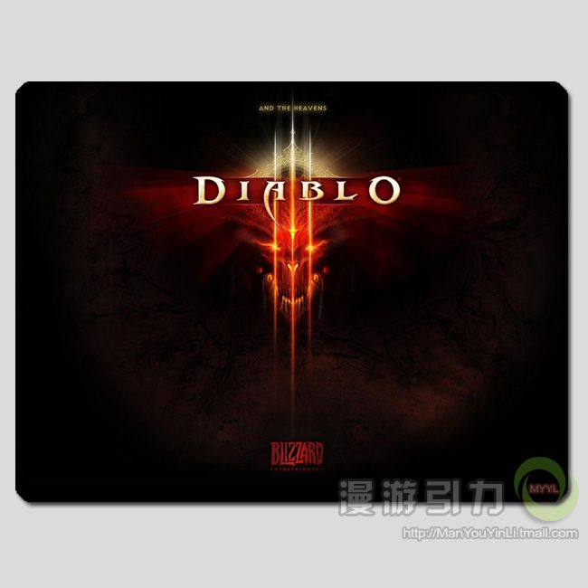 Diable3 Diable's Logo mouse pad MP0170