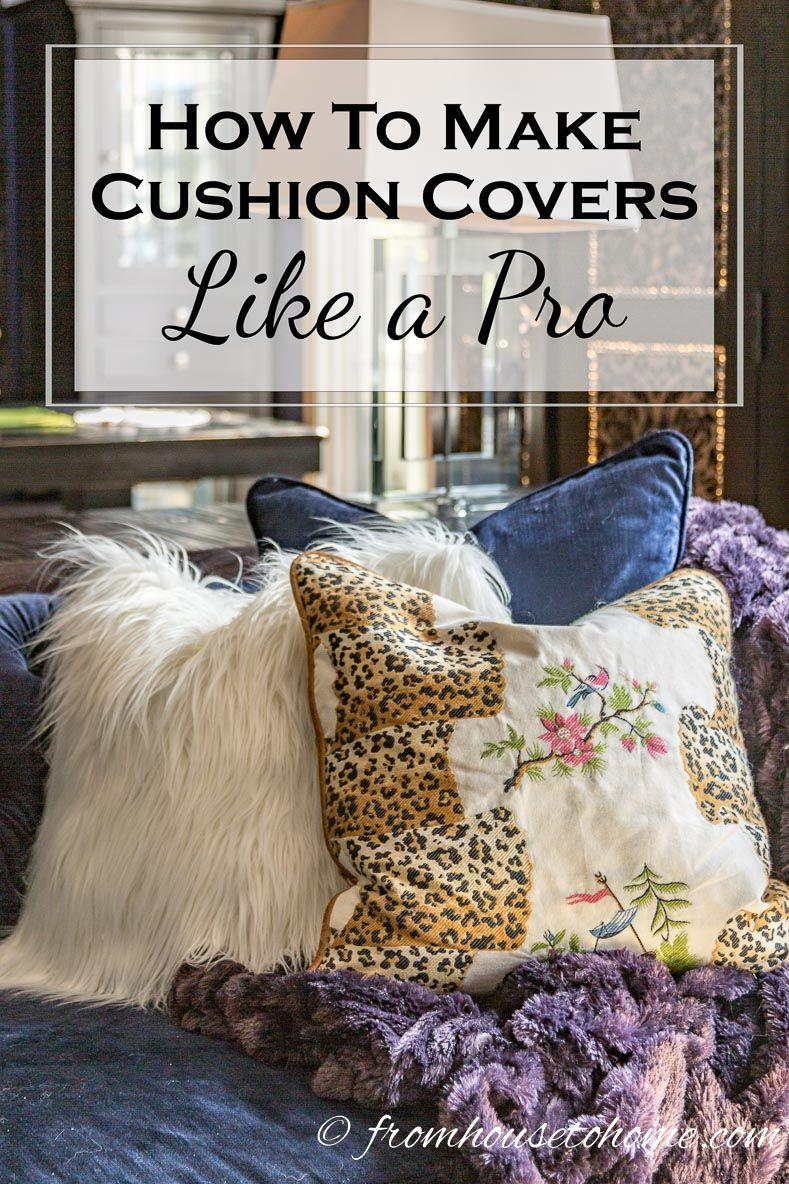 How to make cushion covers like a pro custom cushions sewing
