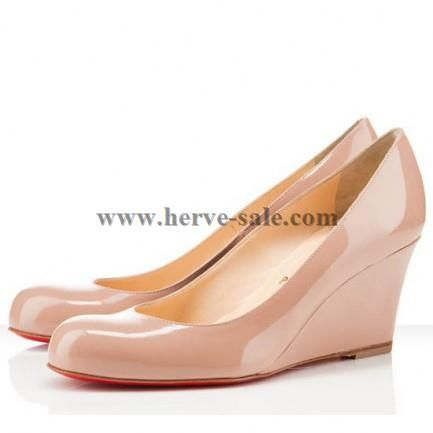 Christian Louboutin Miss Boxe Wedges Light Pink Australia Outlet