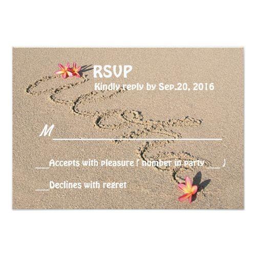 Hawaii Wedding Invitations Hawaii Aloha Plumeria Flower Beach