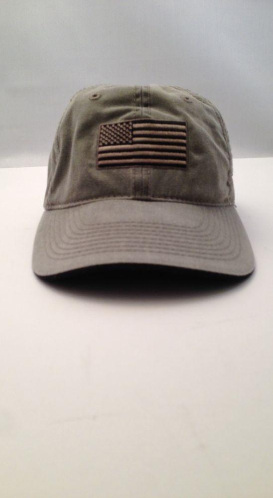 CLS America Data Communication Olive Green American Flag Cap Hat one size   CAP  BaseballCap a829c3530