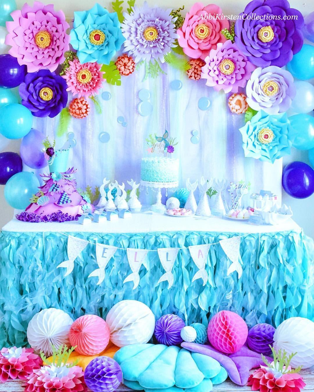 Mermaid Paradise Party Decor. Mermaid Party Ideas. Giant