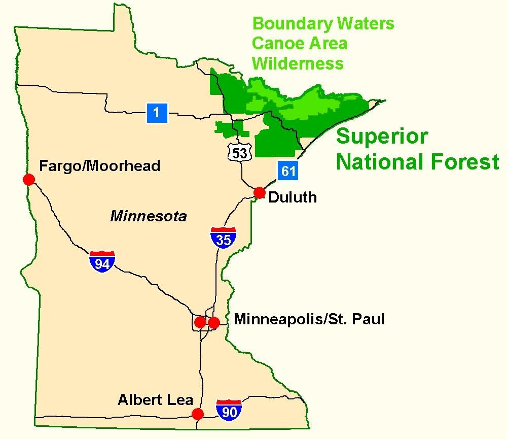 Superior National Forest Maps Publications Forest Map Boundary Waters Canoe Area Boundary Waters Canoe Area Wilderness