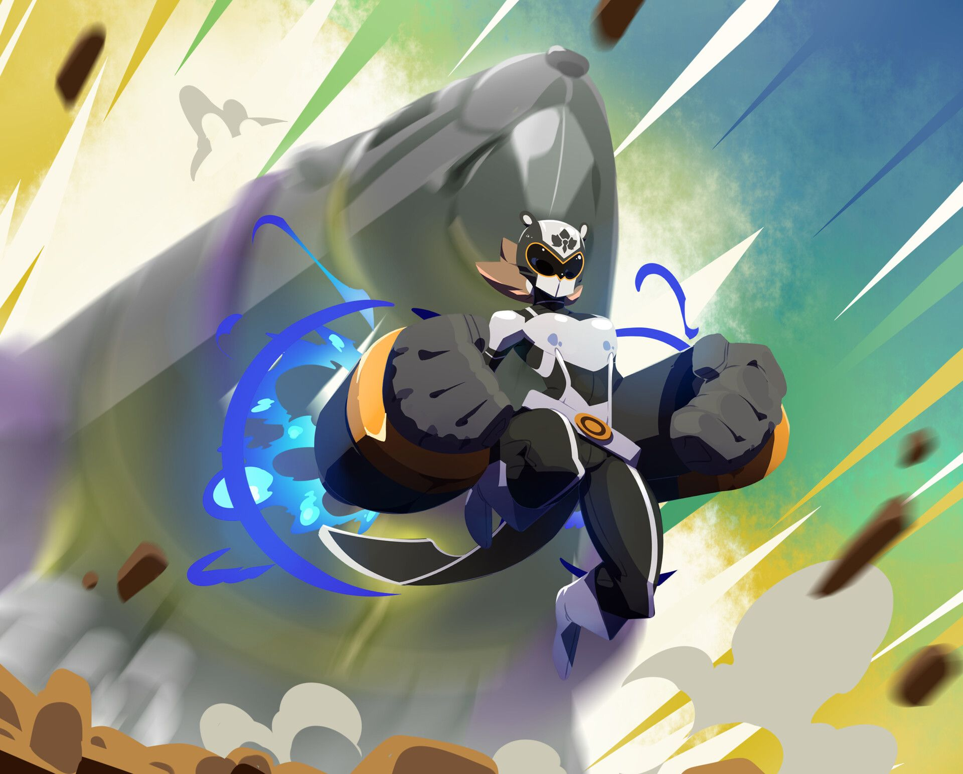 Artstation Beaver Ranger Requin Cobalt Beaver Ranger Anime