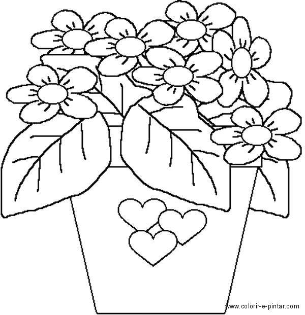 Resultado De Imagem Para Riscos De Vaso Com Flores Para Pintar