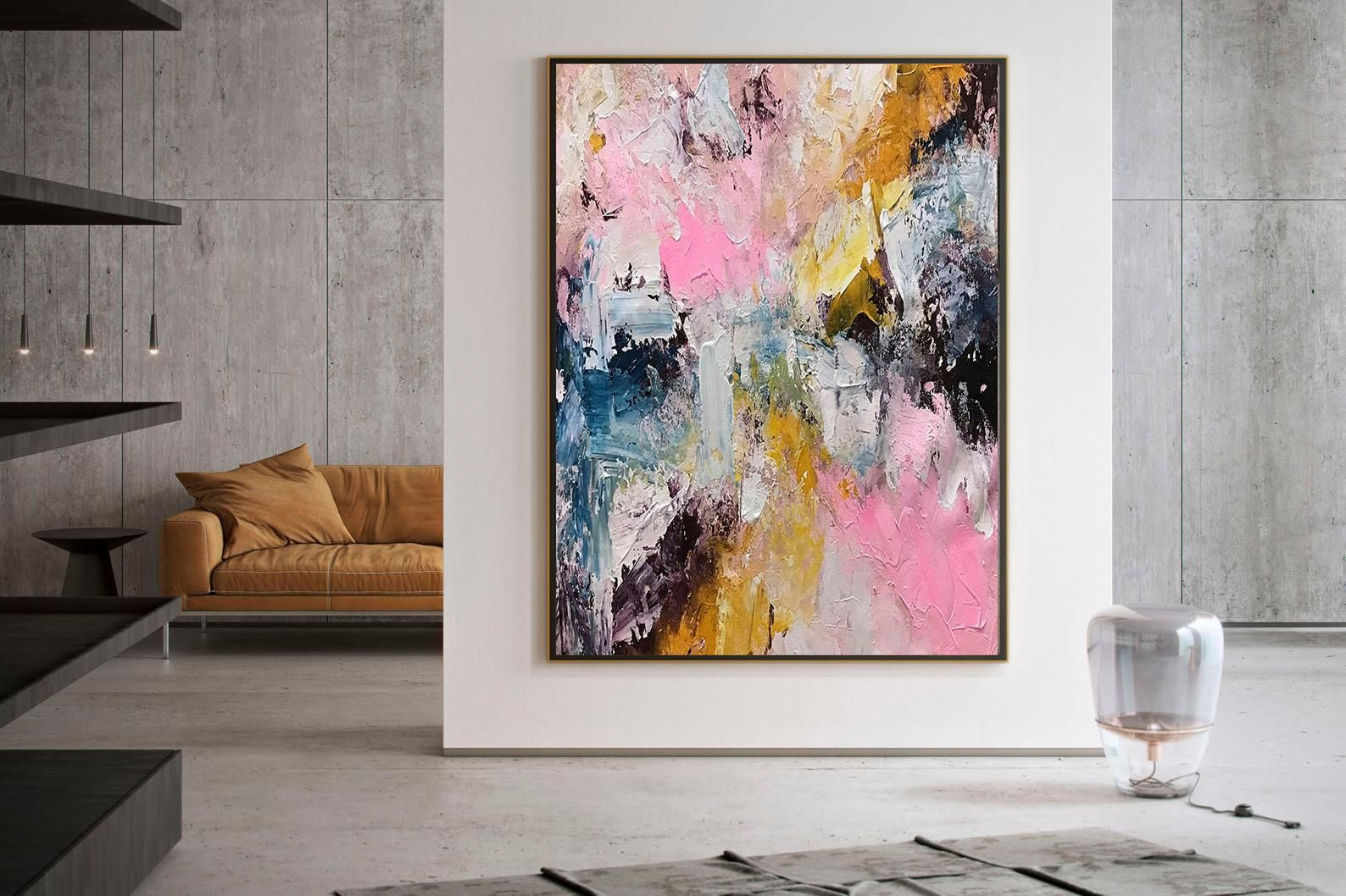 Large Abstract Painting Large Abstract Painting On Canvas Texture Art Painting Acrylic Abstract Office Decor Set Dic033 Abstrakte Malerei Abstrakte Wandkunst Abstrakt