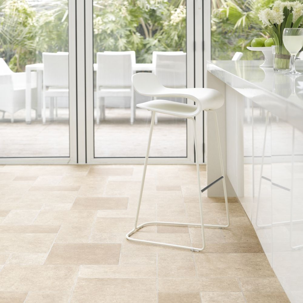 Travertine flooring in a villa pattern Vinyl flooring