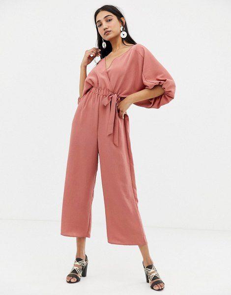 f8cf4b20a21 ASOS DESIGN kimono jumpsuit with wrap and culotte leg.  asosdesign