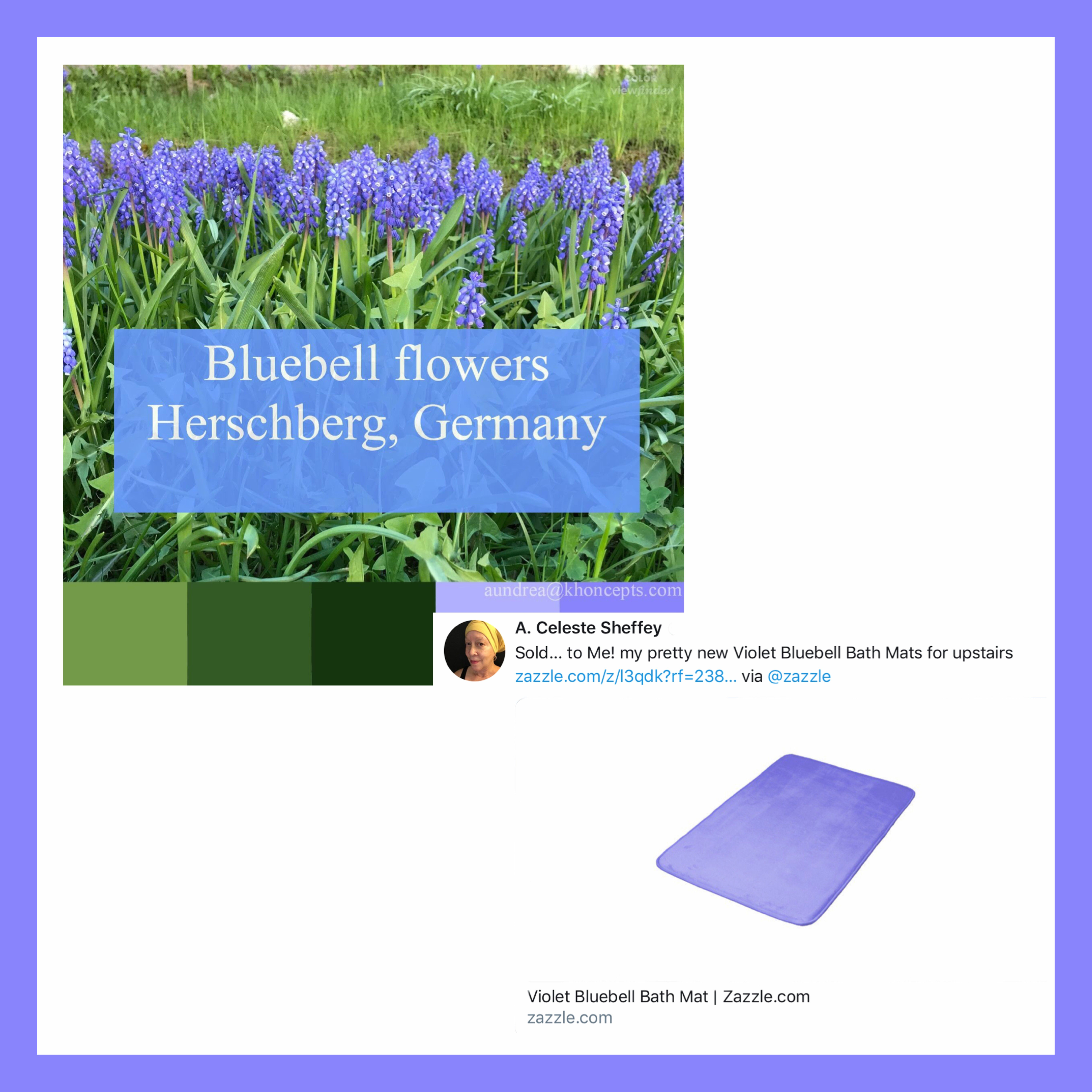 Bathroom decor inspired by pretty Violet Bluebells in ...