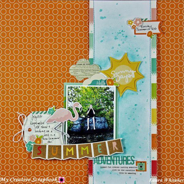Summer Adventures | My Creative Scrapbook July main kit | Simple Stories | Summer Days - Scrapbook.com